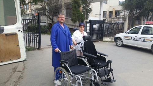 Hilfsprojekt Calarasi März 2016 Rollstühle Krankenhaus 1